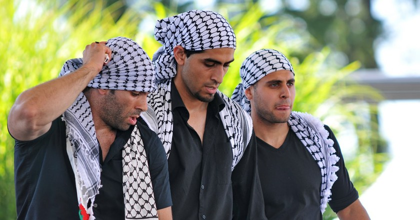 Traditional Arabic dabke dance