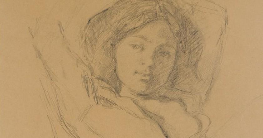 Balthus, 'Portrait de Katia' (1967)   cea + Flickr