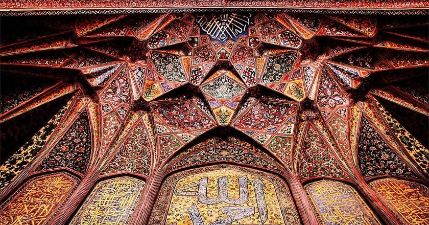 Artwork in Wazir Khan Mosque | © Kkashaff/WikiCommons
