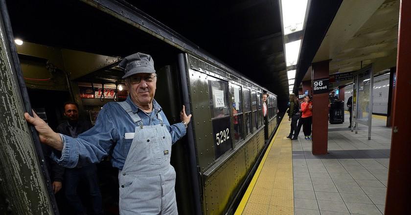 Conductor on Nostalgia train   ©MTA New York City Transit / Flickr