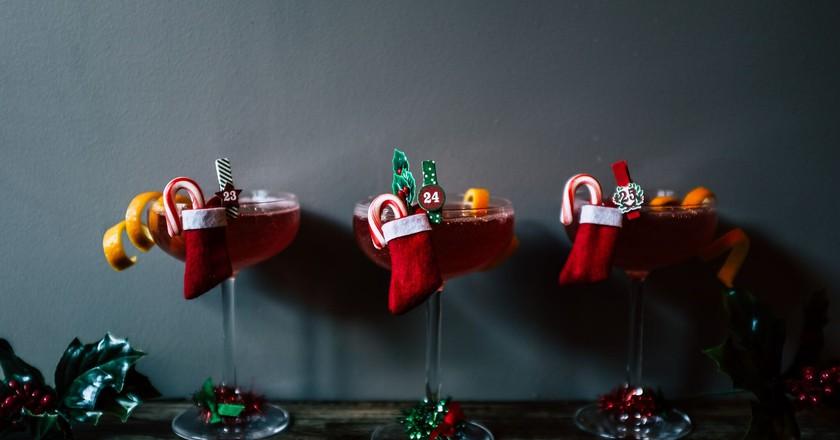 Cocktails at the Sleyenda holiday pop-up at Leyenda   Image courtesy of Leyenda