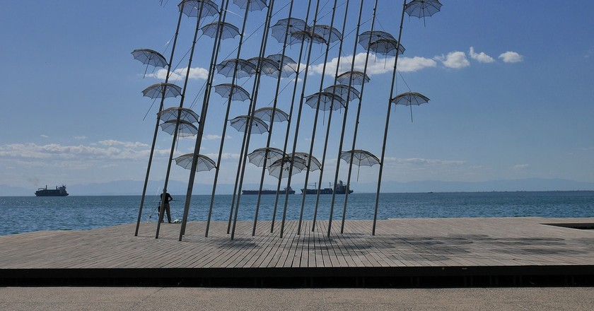 Umbrellas art piece in Thessaloniki | © RmX86 / Pixabay