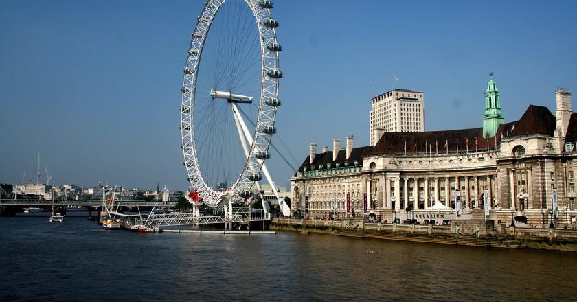 London Eye and London Aquarium, Southbank