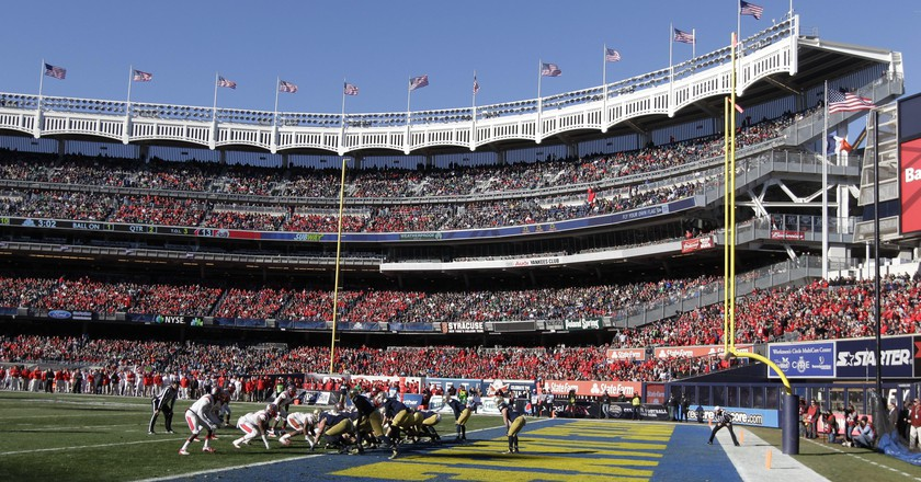 Notre Dame defeated Rutgers in the 2013 Pinstripe Bowl | © Frank Franklin II/AP/REX/Shutterstock