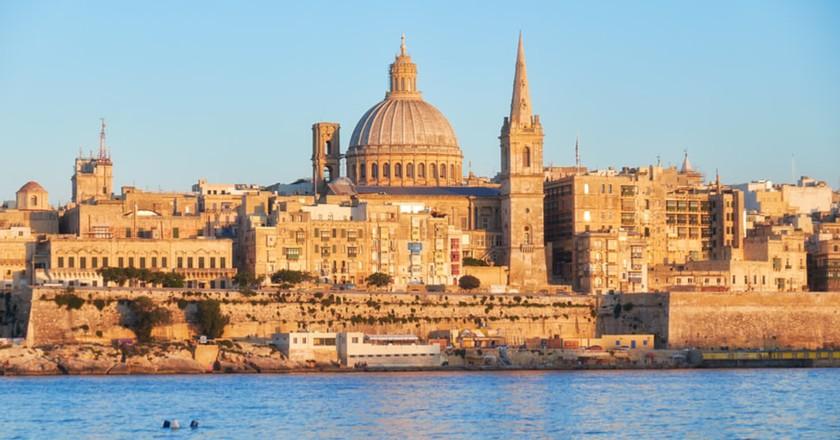Valletta Skyline, Malta   © Serg Zastavkin/Shutterstock