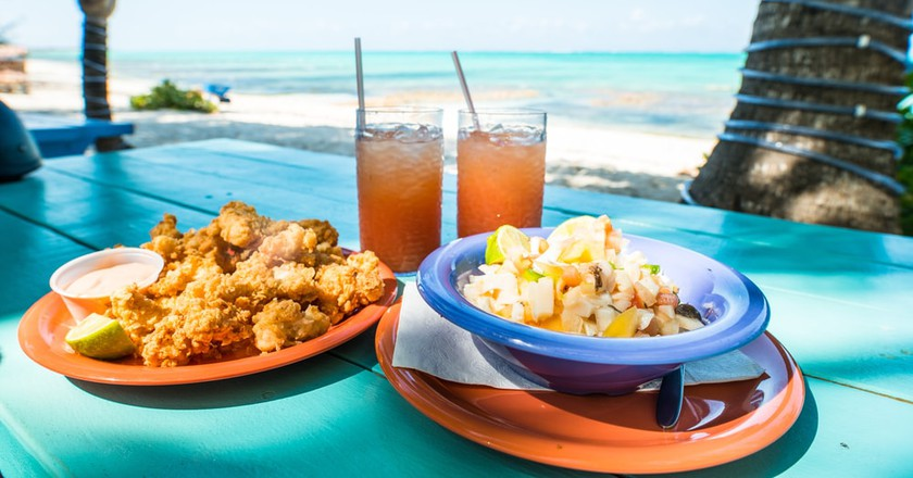 Conch Fritters and Salad  © Shutterstock