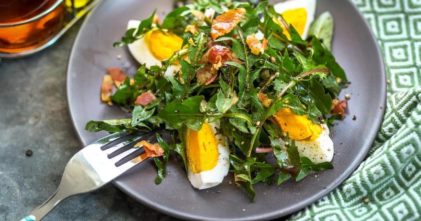 Dandelion salad, a Saarland speciality