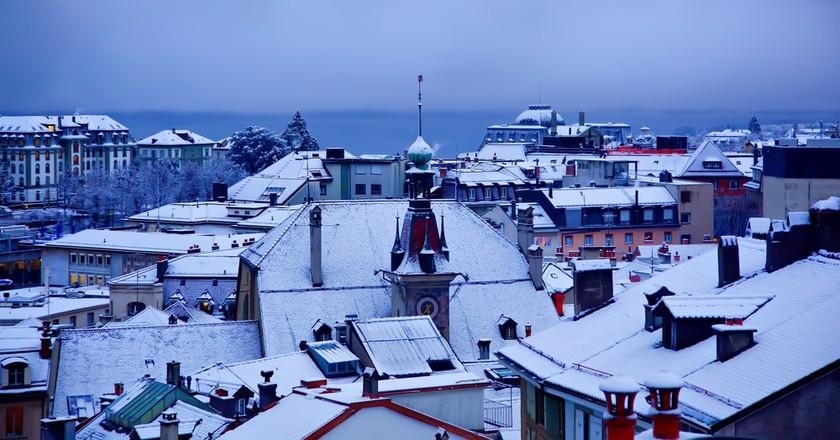 Winter evening in Lausanne, Switzerland | © as_trofey/Shutterstock