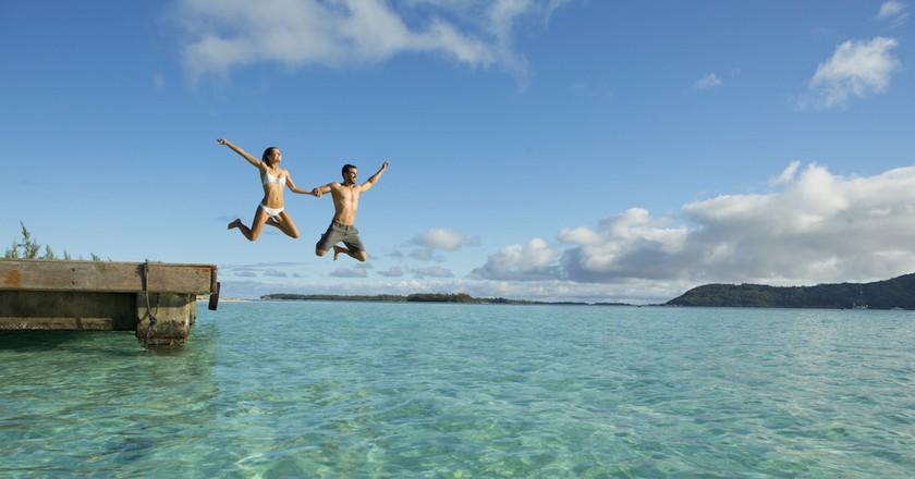 Enjoying the water | © Tahiti Tourisme