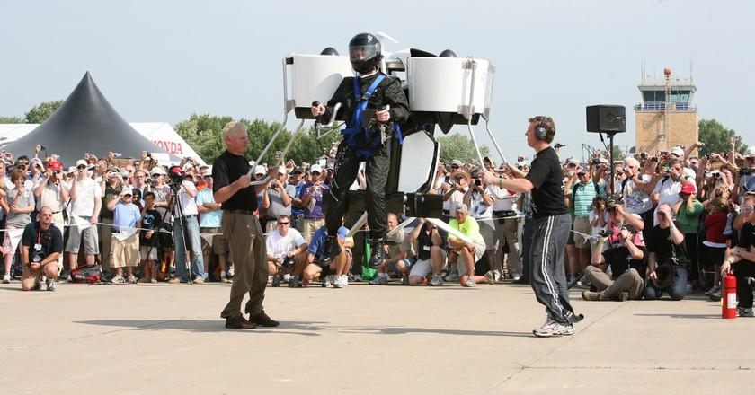 Martin Jetpack unveiling in 2008   © martinjetpack/Flickr