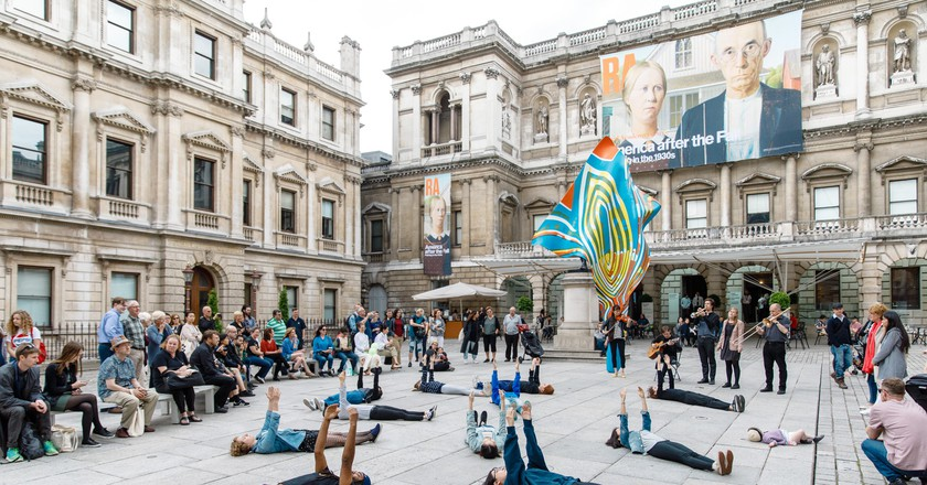Young In Hong's '5100: Pentagon' in the Royal Academy of Arts' courtyard