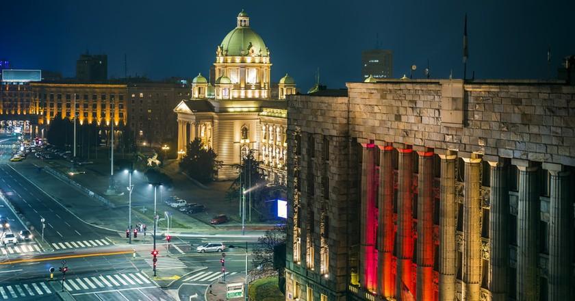 Belgrade comes alive at night