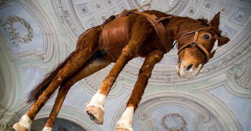 'Novecento (1900)' by Maurizio Cattelan (1997) at Castello di Rivoli | © Ralf Steinberger/Flickr