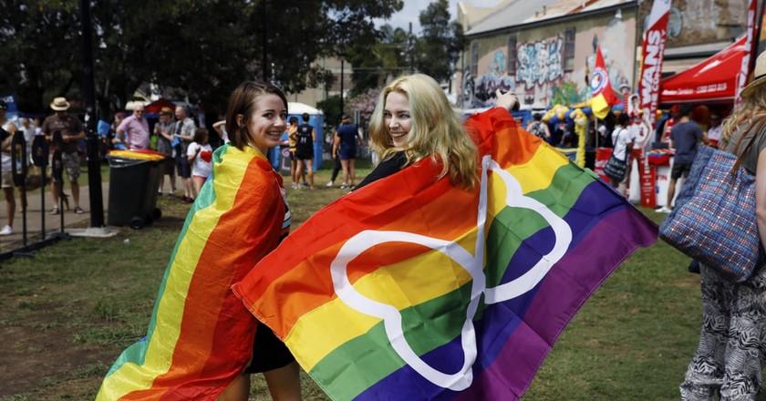 Couple at Mardi Gras Festival | © Courtesy of Ann-Marie Calilhanna/Sydney Gay and Lesbian Mardi Gras