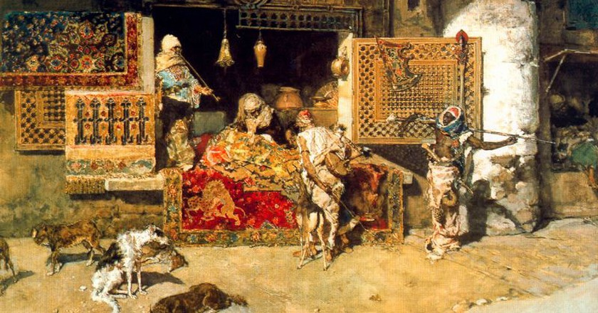 The Tapestry Seller by Fortuny  ©WikiCommons