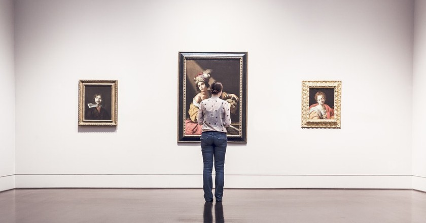 A woman looking at art   ©RyanMcGuire / Pixabay