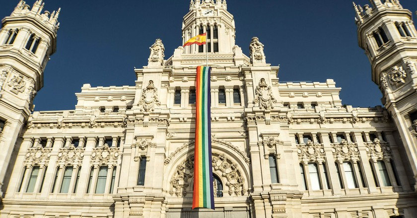 Madrid's City Hall during Pride|©Donations_are_appreciated/Pixabay