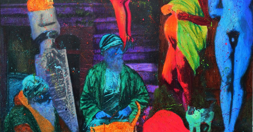 Gazi Sansoy, Ufürük, 2009, Mixed media on canvas, 170,5 x 172,5 cm | Courtesy of Anna Laudel Contemporary
