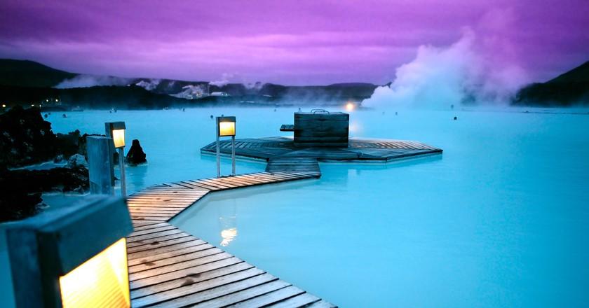 Thermal springs blue lagoon Reykjavik Iceland   © Expedia