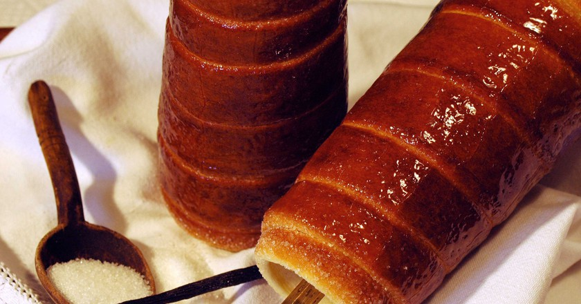Hungarian chimney cake can be found throughout the country | Courtesy of Molnar's Kürtöskalács