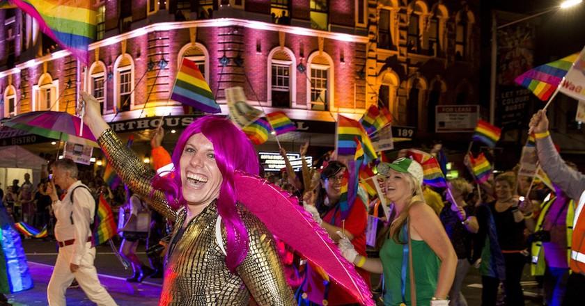 Sydney Gay and Lesbian Mardi Gras parade, Oxford Street Sydney 2014