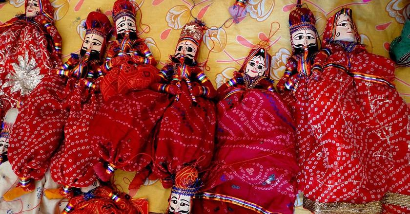 Colourful puppets in Rajasthan | © Karthikeya / Wikimedia Commons