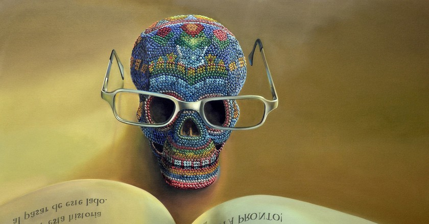 Mexican skull with book | © 1565708 / Pixabay