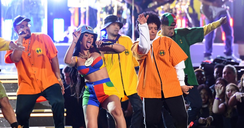 Bruno Mars and Cardi B perform 'Finesse' at the 60th Annual Grammy Awards