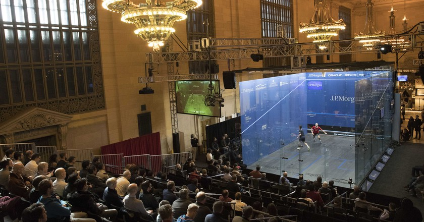 2018 Squash Tournament of Champions in Grand Central Station | Mary Altaffer/AP/REX/Shutterstock
