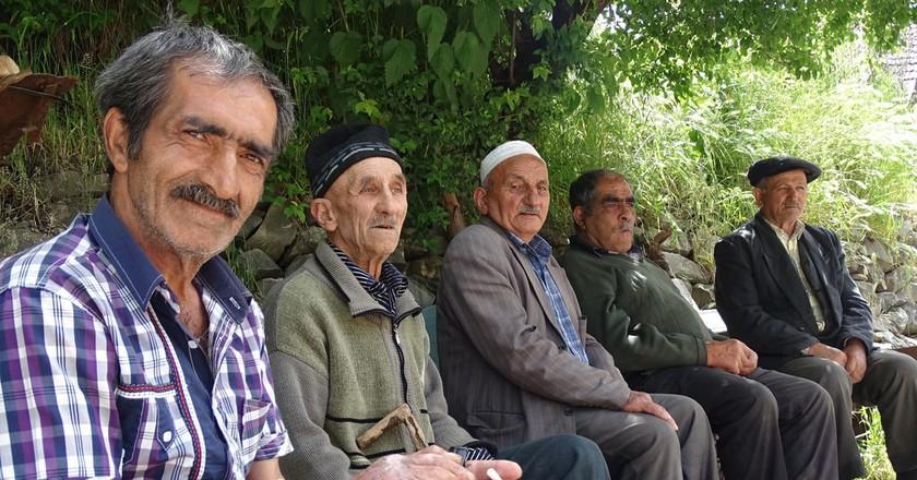 Local men in one of the villages in Azerbaijan | © Adam Jones/Flickr