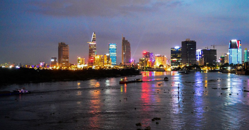 Saigon at night from the river | © John Gremory / WikiCommons