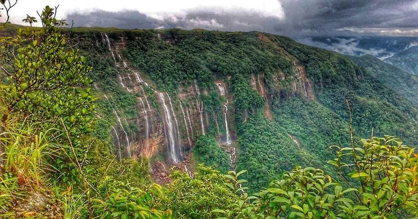 Seven Sister Waterfalls in Cherrapunji | © Wittystef / Wikimedia Commons
