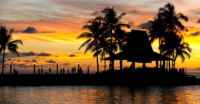 Sunset in Tanjung Aru Beach, Sabah