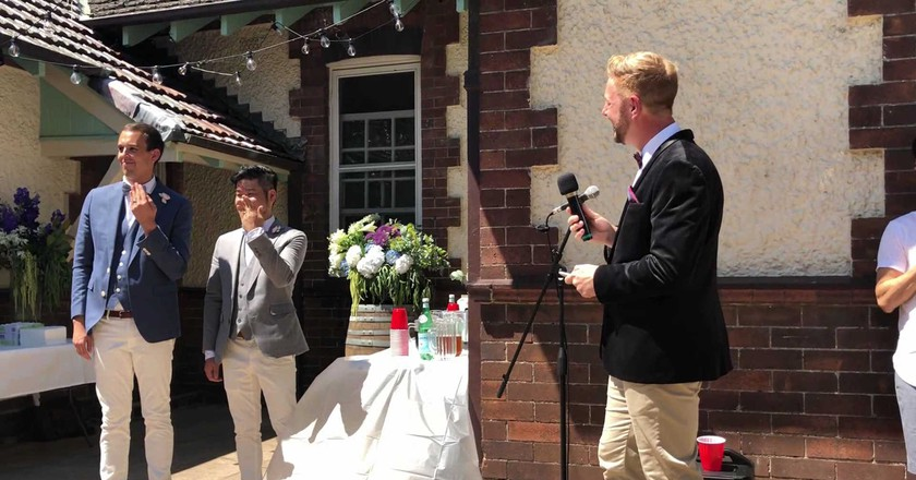 Meet The Man Who Married Australia's First-Ever Same-Sex Couple