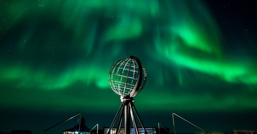 The Northern Lights at North Cape