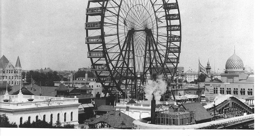 The Ferris Wheel at the World's Columbian Exhibition in 1893.