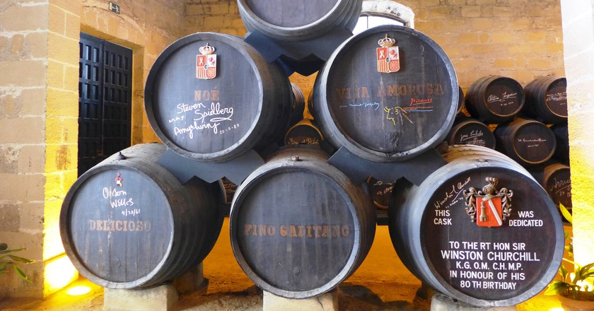 Sherry bottles in Jerez, Andalusia | © Ewan Munro / Flickr