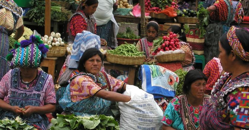 The market at Almolonga, Guatemala