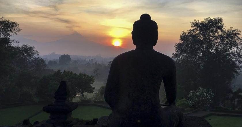 Sunrise from Borobudur Temple | ©Christopher Michel/Flickr