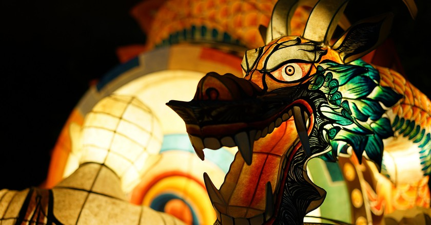 A dragon comes to life at the Seoul Lotus Lantern Festival