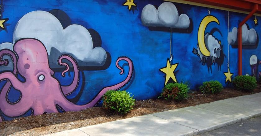 Will Pucket mural at N Davidson & E 28th | © James Willamor / Flickr
