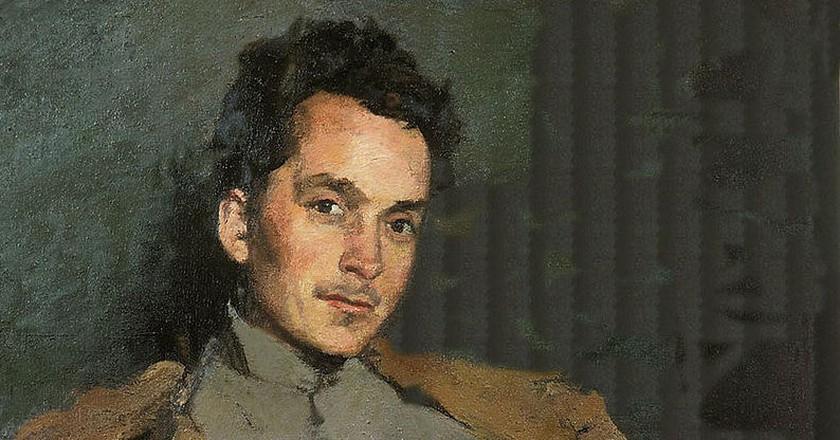 Sergey Malyutin, 'Portrait of Dmitry Furmanov', 1922 | © WikiCommons