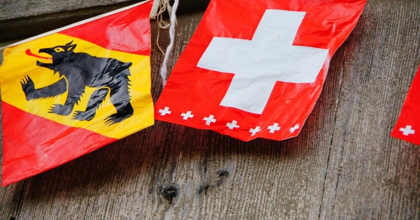Bern's flag proudly features a bear   © Martin Abegglen/ Flickr