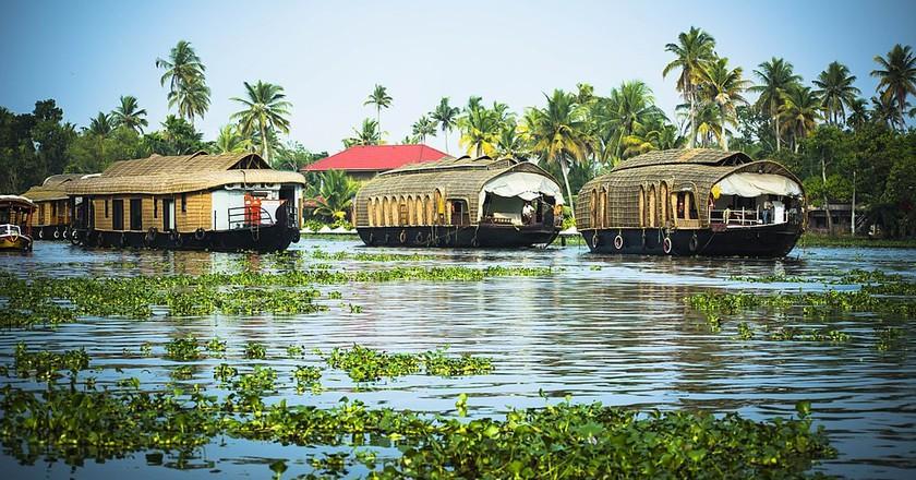 Houseboat in Alappuzha (Allepey), Kerala