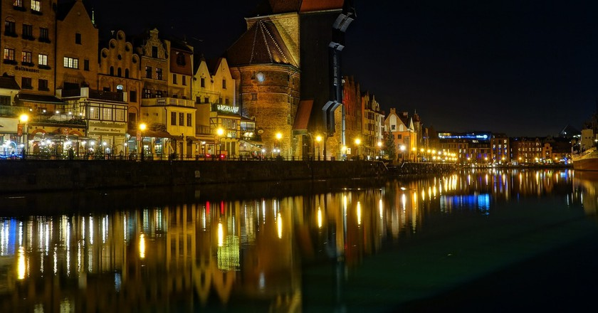 Gdańsk by night | © clariston / Pixabay