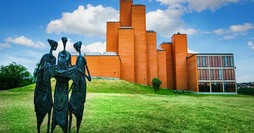 The memorial park in Kragujevac