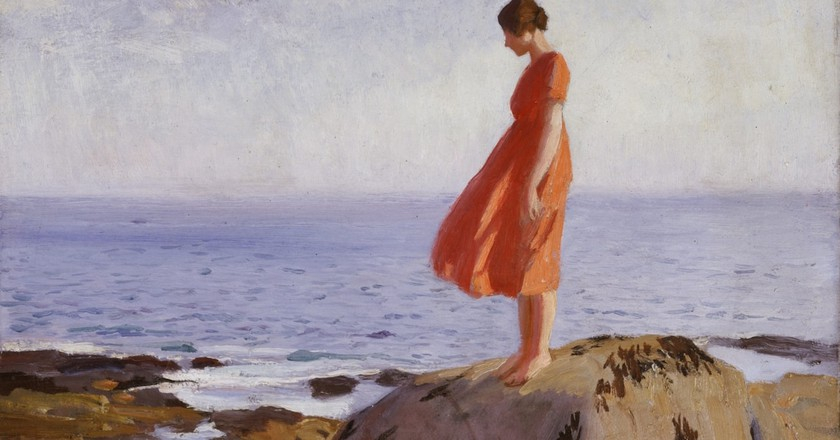 Dame Laura Knight, The Dark Pool (detail), 1908-1918 | Laing Art Gallery, Newcastle. © Reproduced with permission of The Estate of Dame Laura Knight DBE RA 2018