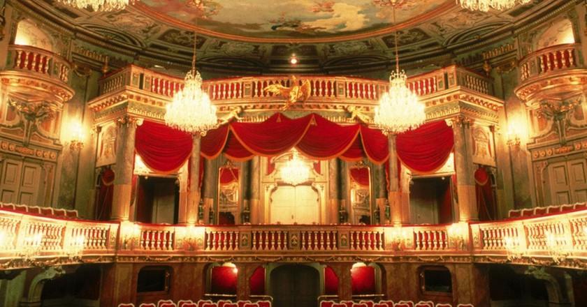 The lavish interior of the Schoenbrunn theatre | Courtesy of the Austrian Tourist Board