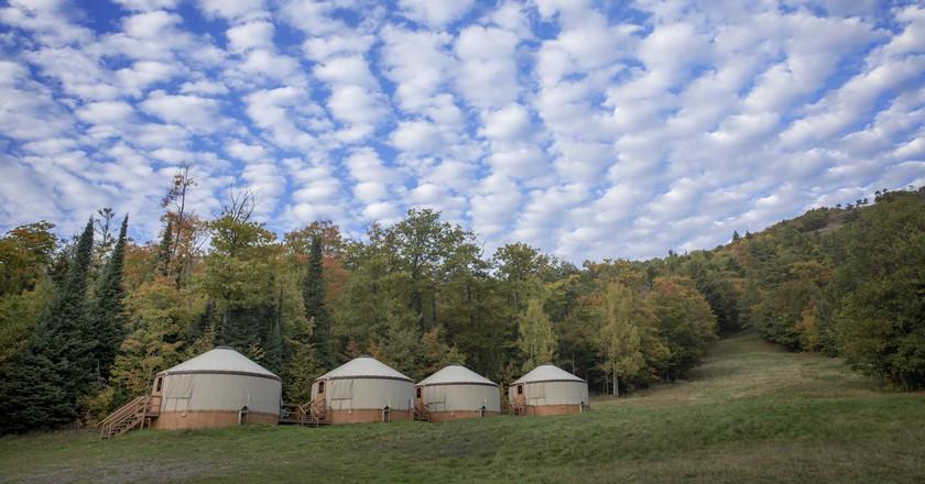 Mount Bohemia Yurts | Courtesy of Mount Bohemia Adventure Resort