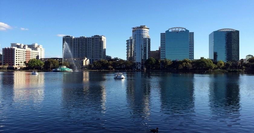 Lake Eola, downtown Orlando, Florida.